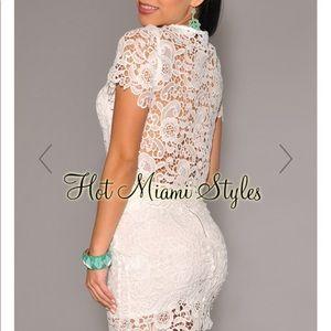 Dresses & Skirts - 🔥2 piece White lace matching Skirt Set.
